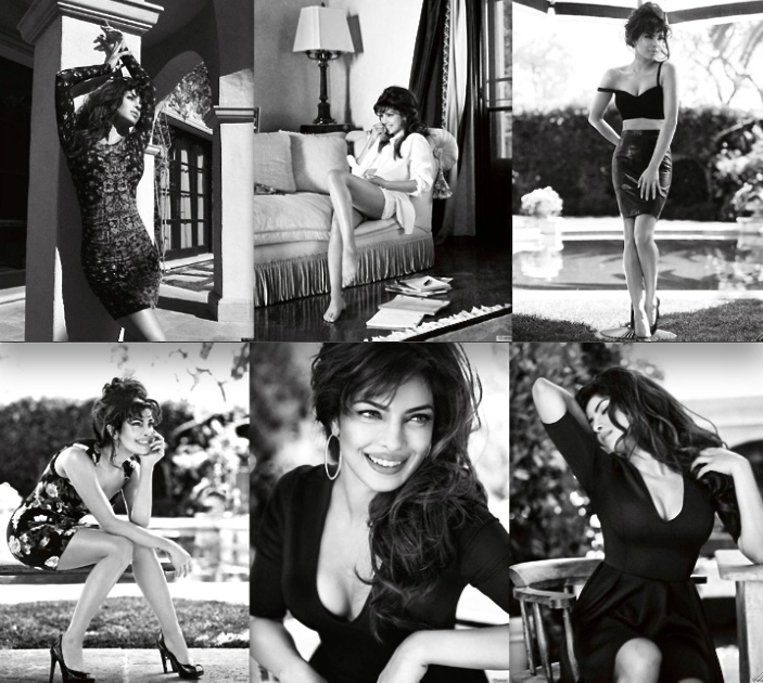 Priyanka Chopra in stills from the Guess Campaign