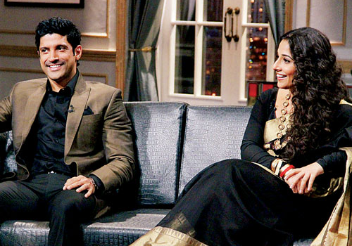 Farhan Akhtar and Vidya Balan appeared on Karan Johar's infamous couch over the weekend