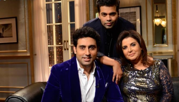 Abhishek, Farah and Karan on this week's  Koffee With Kara  n