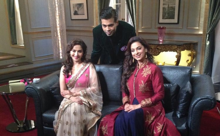 Madhuri Dixit and Juhi Chawla sparkled on Koffee With Karan