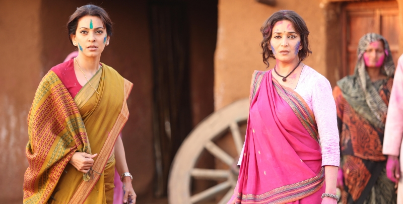 Madhuri Dixit and Juhi Chawla in  Gulaab Gang