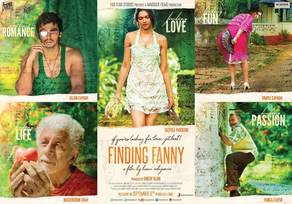 Pankaj Kapur, Dimple Kapadia, Naseerudin Shah, Deepika Padukone & Arjun Kapoor in the poster of Finding Fanny