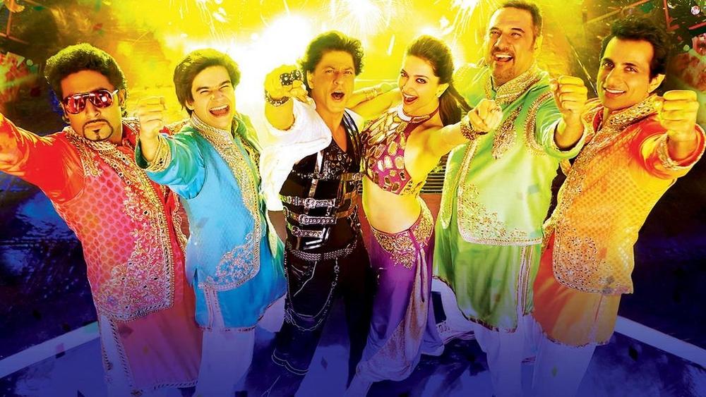 Abhishek Bachchan, Vivaan Shah, Shah Rukh Khan, Deepika Padukone, Boman Irani & Sonu Sood in  Happy New Year