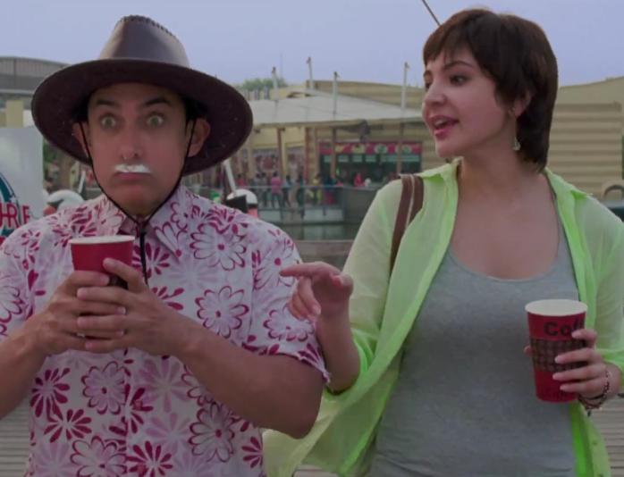 Aamir Khan and Anushka Sharma in PK