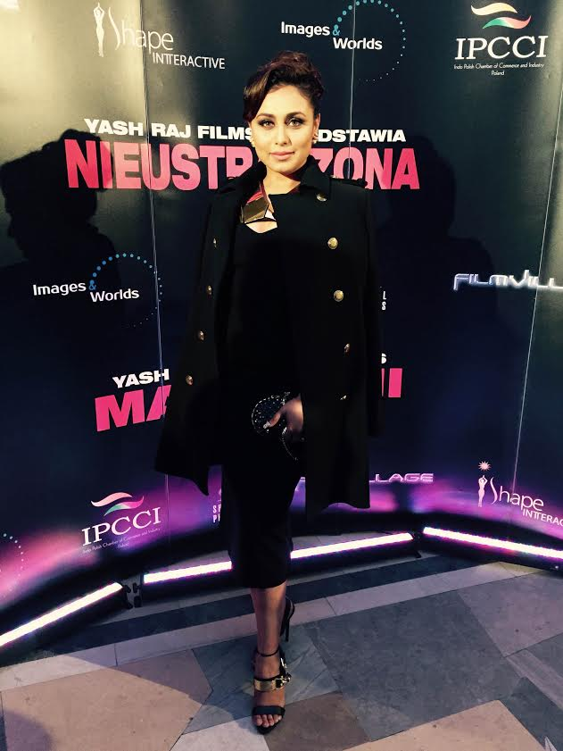Rani dazzled at the premiere of Mardaani in Poland