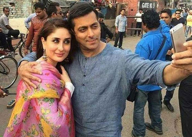 Salman Khan & Kareena Kapoor Khan on the sets of  Bajrangi Bhaijaan