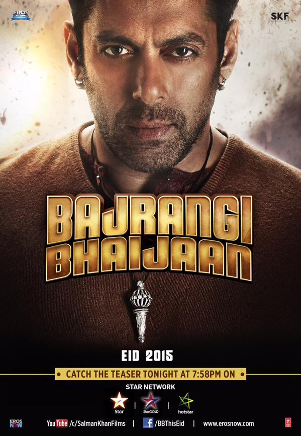 The official poster of  Bajrangi Bhaijaan