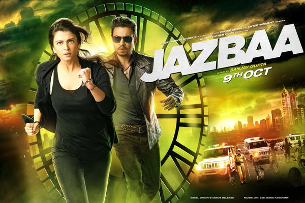 Ash-Irrfan in the dubious looking poster of  Jazbaa