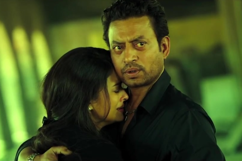 Irrfan looking as puzzled as the audience in  Jazbaa