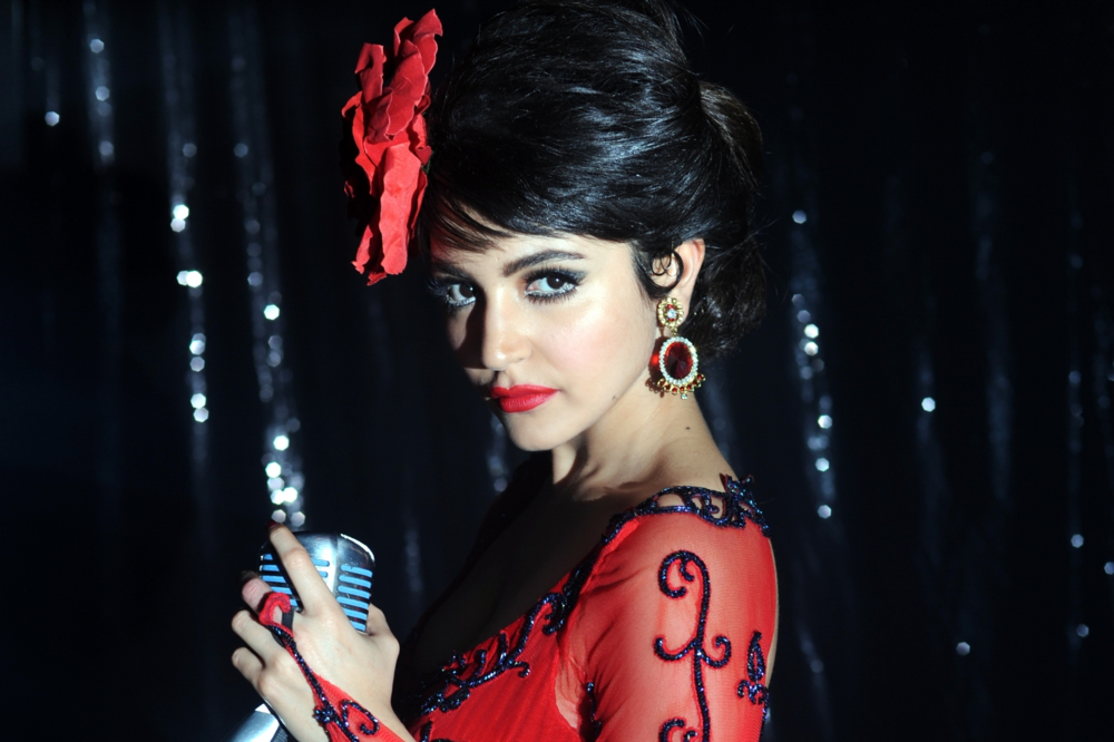 Anushka in all her 60s finery in Bombay Velvet