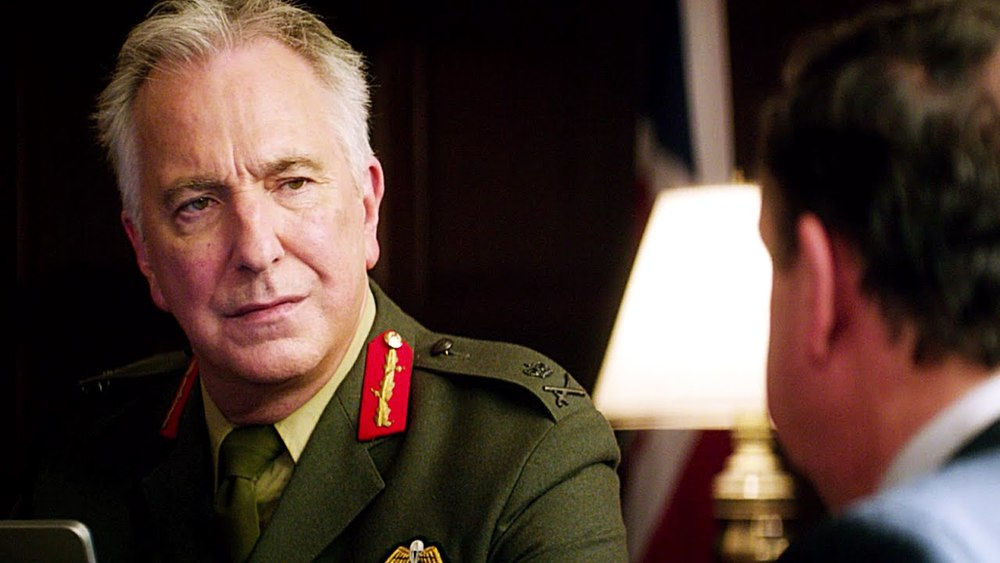 The late Alan Rickman as Lt General Benson is superb