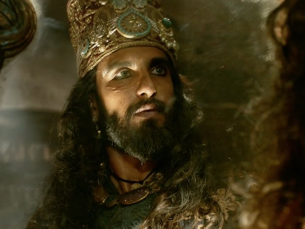 Ranveer as the ruthless Alauddin Khilji
