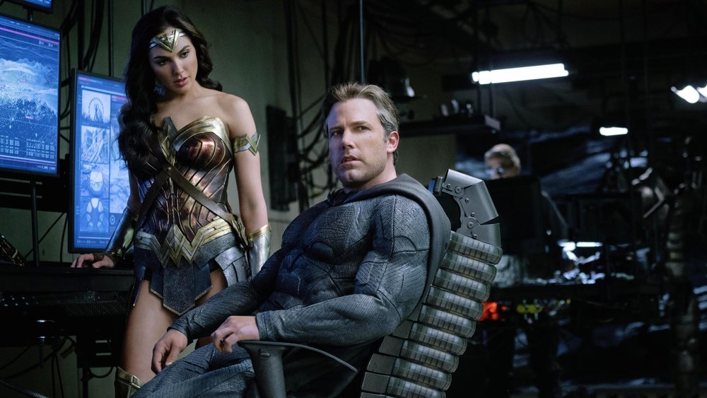 Gadot and Affleck looking like they care