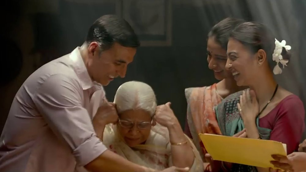 Akshay-Radhika in one of the more lighter moments in  Pad Man