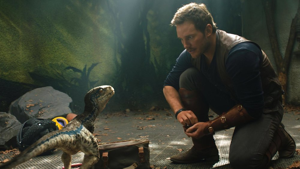 Chris Pratt in  Jurassic World: Fallen Kingdom , is more charismatic this time round