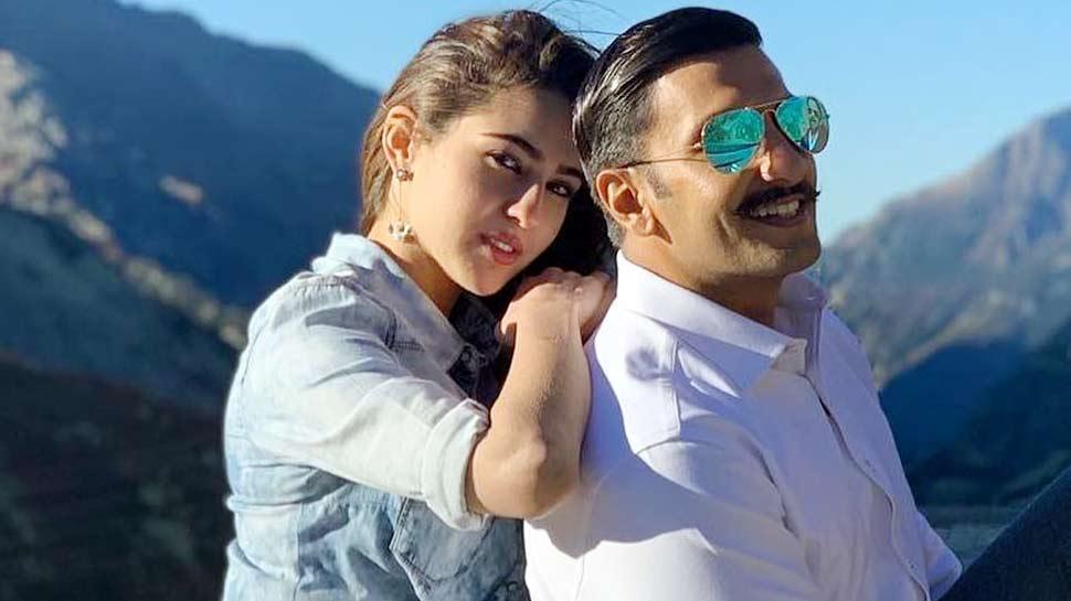 Ranveer Singh & Sara Ali Khan in  Simmba