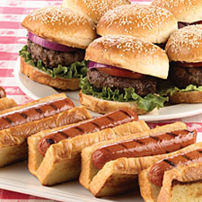 Image result for hamburgers and hot dogs