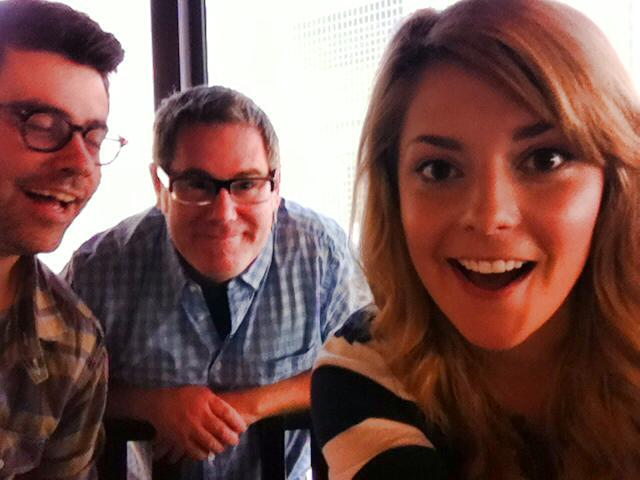 Martini shot for 'Like Me' - Interviewing Grace Helbig in some tall building in LA