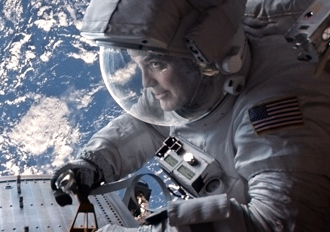 "George Clooney in ""Gravity"""