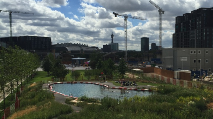 Kings Cross pop-up wild swimming pool