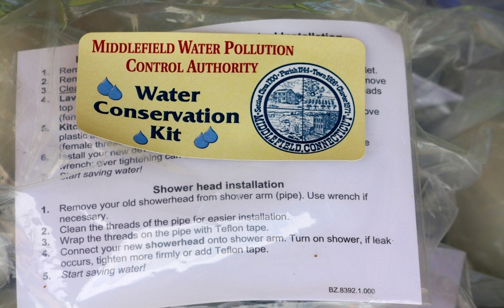 water conservation kits made available through Water Pollution Control Authority