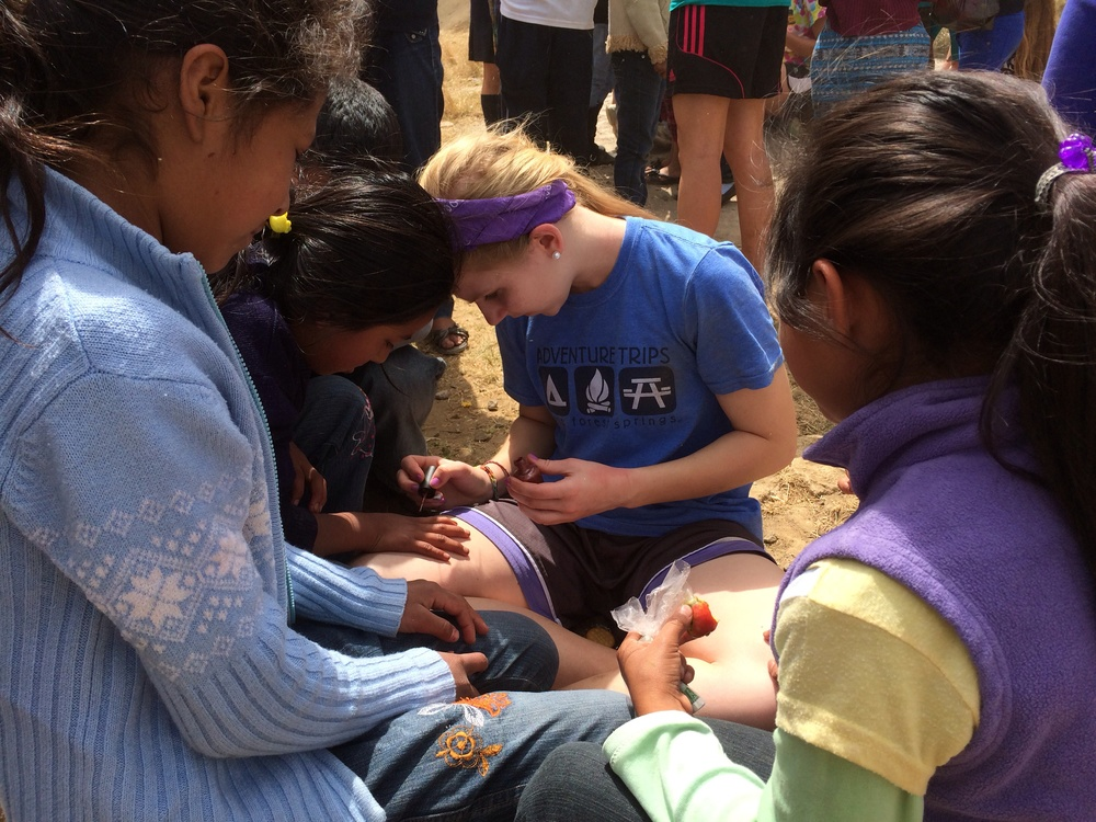 the girls on the team painted nails during recess...huge hit!