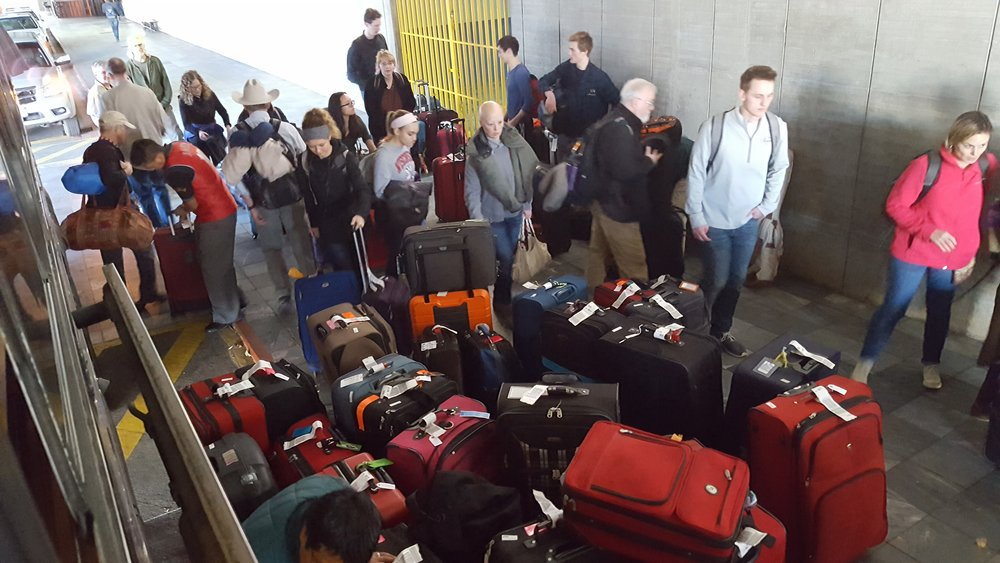 2. All that luggage, outside Guatemalan airport.jpg