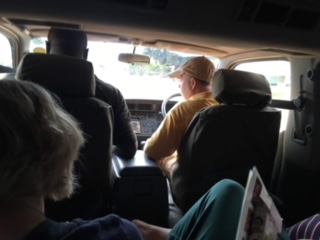 Brother Phil, driving. In Uganda. Yet, all are safe & sound!