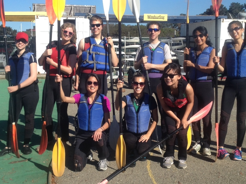 Lab kayaking fun (October 2014)
