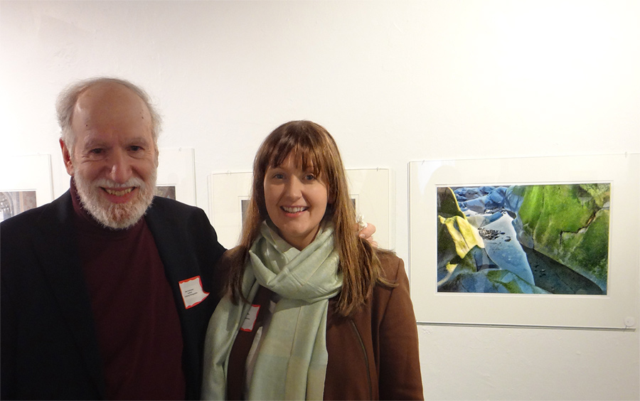 March 24th, 2013, Peter and me next to his Algae on Maine Rocks print on exhibit at Mill Gallery.