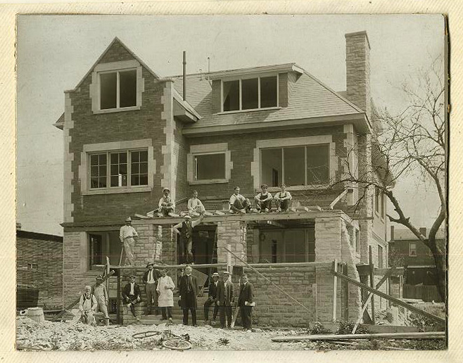 Holy Name Rectory under construction. Around 1913
