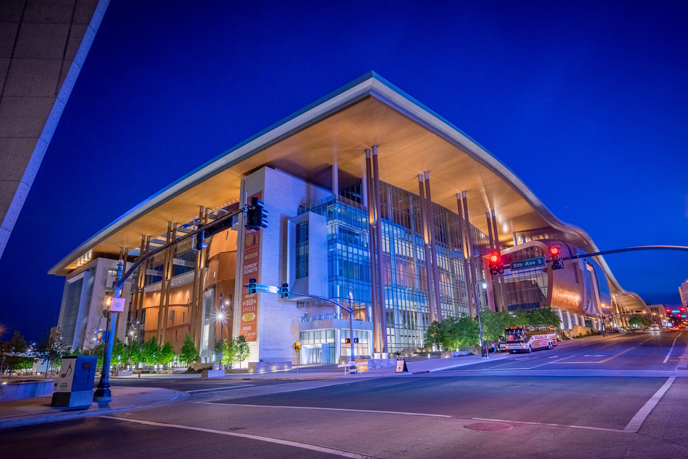 Music City Center at night