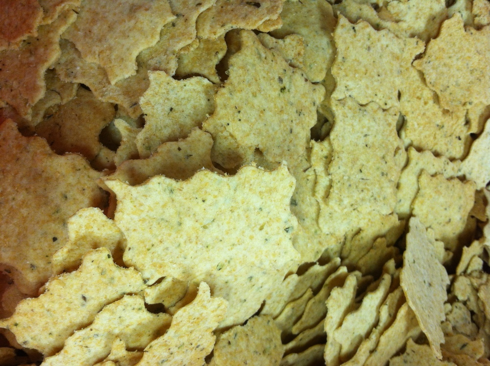 Herb Crackers from   Wildflour Bakery   using Appalachian White grain from Carolina Ground, milled in-house.