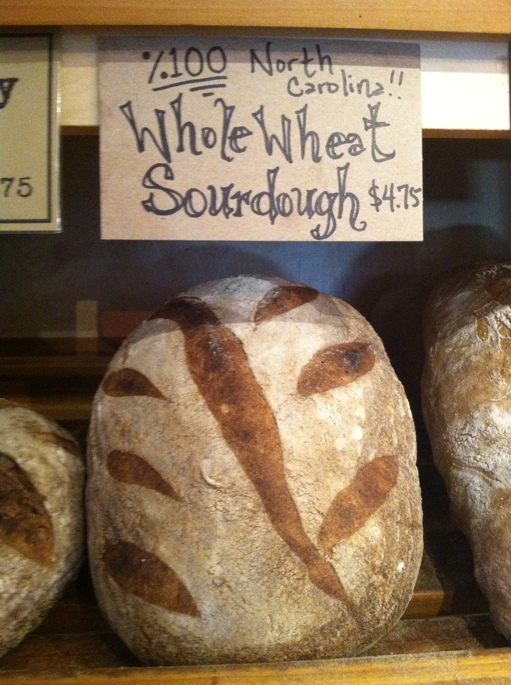 Flat Rock Village Bakery's   Whole Wheat bread using 100% of Carolina Ground's Type 85 flour.