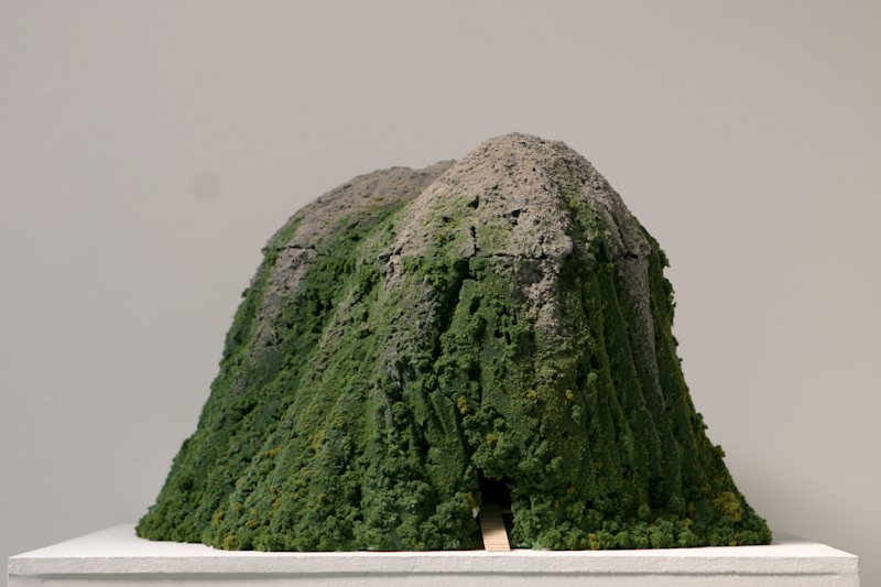 "Carin Mincemoyer Big Rock Candy Mountain steel, foam, epoxy putty, sugar, wood, electrical wiring, LEDs. 22"" x 22"" x 18"" 2010"