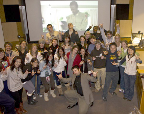 End of the semester for my first class, Introduction to Graphic Design, 2008.