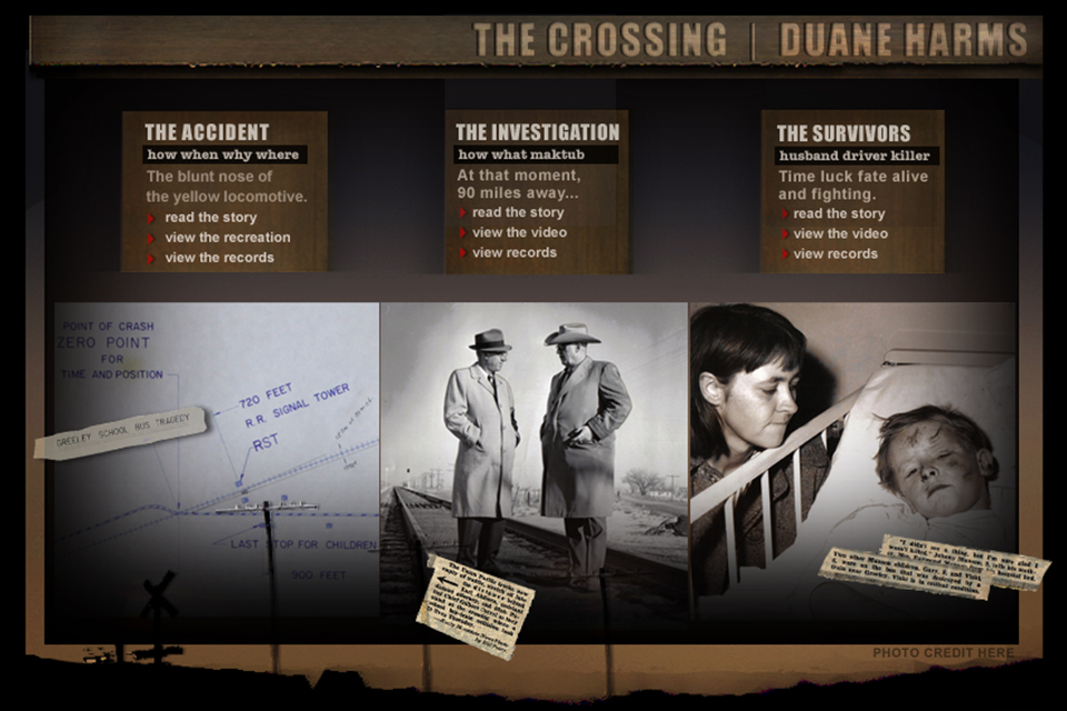 The Crossing was a 33 part story at the Rocky Mountain News.