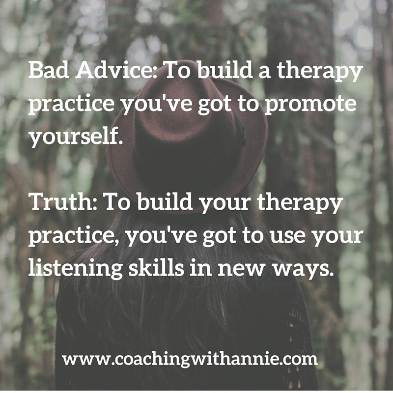advice for building a therapy practice