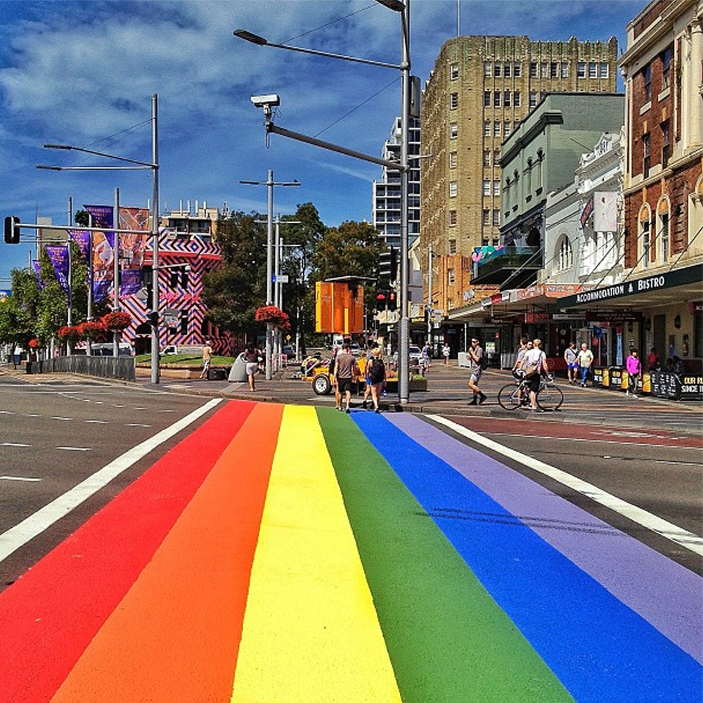 Taylor Square, Sydney. Image courtesy of @nottherealtoby.