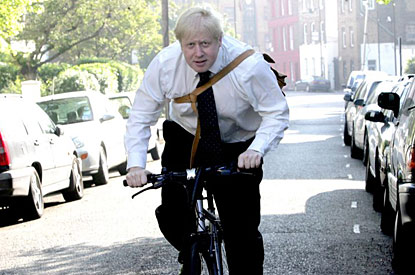 Boris Johnson. Mayor and cyclist. Source: Press Association