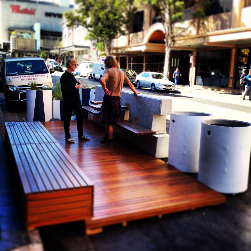 The Urban Lounge parklet.