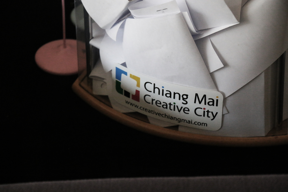 Creative City Chiang Mai Logo and Feedback Box. Image courtesy John O'Callaghan.