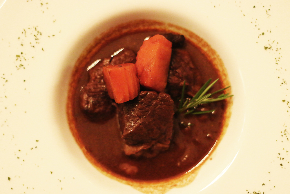 David's Kitchen Bourguignon. Image courtesy John O'Callaghan.