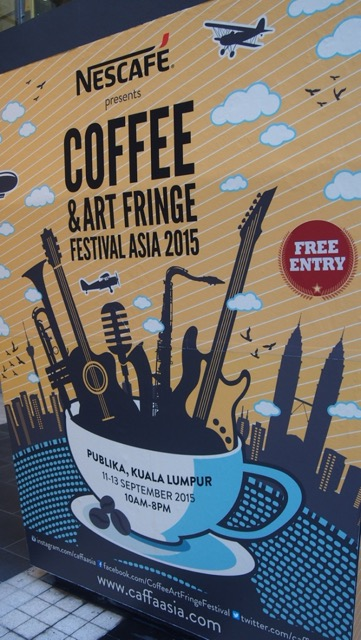 Coffee and Art Fringe, one of many festivals that take place at Publika
