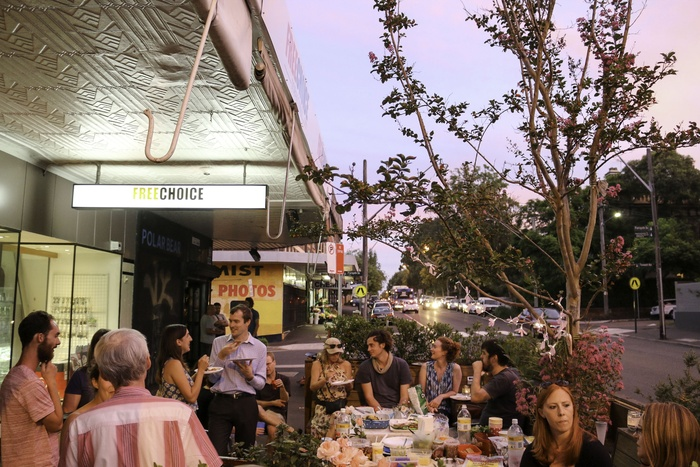 The parklet on the move again. This time along Glebe Point Road. Source: glebe.com.au
