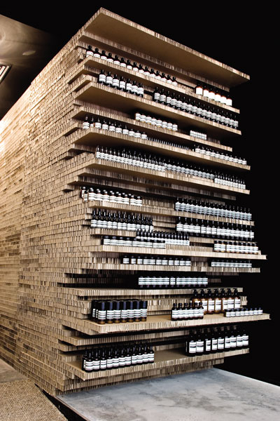 Aesop's Flinders Lane retail outlet, temporarily made over by March Studio in 2007.  © Amanda de Simone