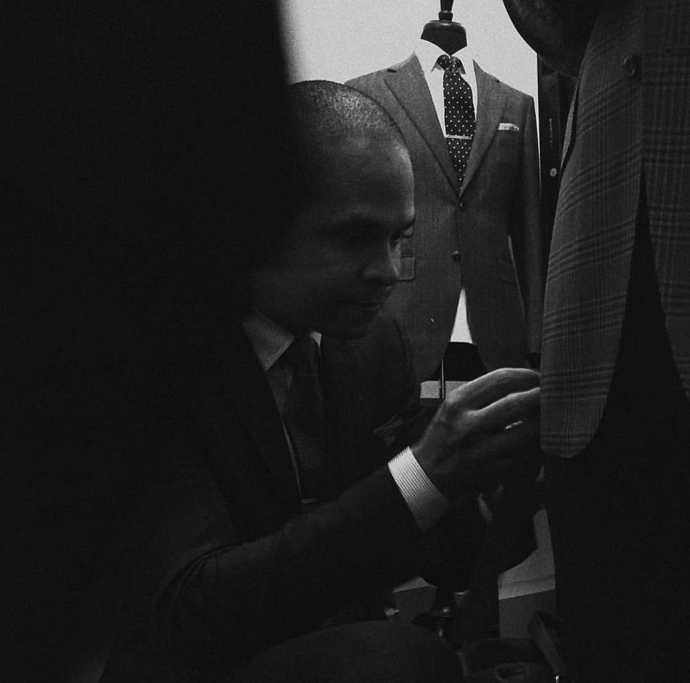 Ian Rios founder and master tailor.
