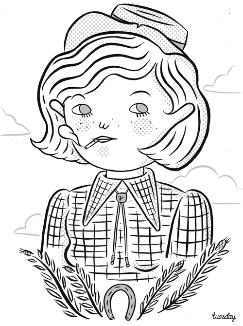 for the second outside the lines coloring book which is a design y coloring book for children and adults alike i created the smoking cowgirl as an - Outside The Lines Coloring Book