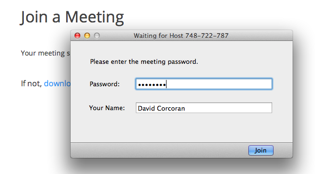 adding password to your online meeting