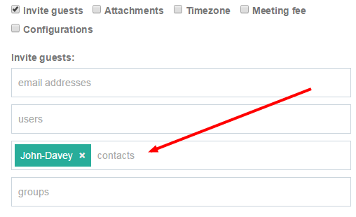 Easily add contacts to your scheduled meetings